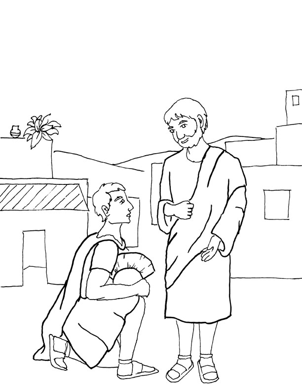 centurion servant coloring pages - photo#2