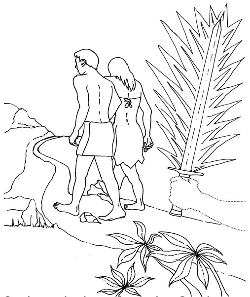 The First Man Sent From The Garden Coloring Page
