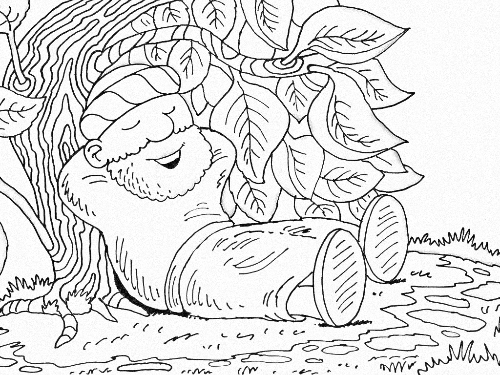 Jonah With His Gourd Coloring Page