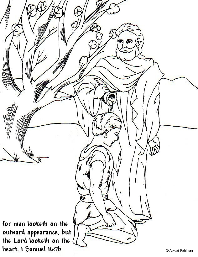 david the king coloring pages - photo#36