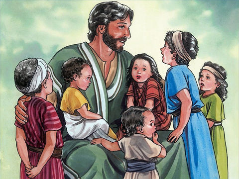 Jesus said Let the children come to me