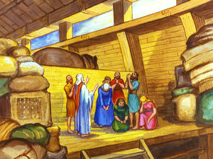 Noah Looked At The People Sadly He Knew There Was Nothing Could Do To Make Them Believe That God Meant What Said But Kindly Invited Anyone Who
