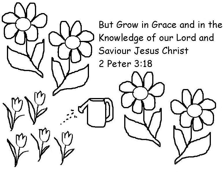 2 Peter 3 18 Coloring Page Lorain County Free Net