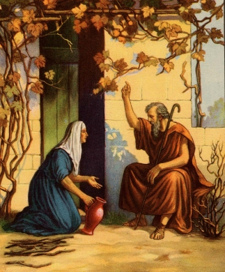 Bible Story Coloring on Bible Story   Elijah  Fed By A Widow By Linda Sue Pochodzay Edwards